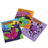 Mini Halloween Coloring Books