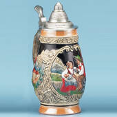 Multicolor .5 Liter Barrel Stein
