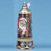 Old World Santa Stein W/Music