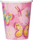 9oz Butterflies And Dragonflies Paper Cups