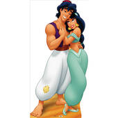 Aladdin And Jasmine Lifesized Standup