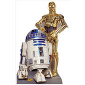 R2-D2 And C-3P0-Lifesized Standup
