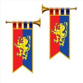 Royal Trumpet Banner Cutouts