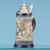 Rustic Blue Traditional Stein