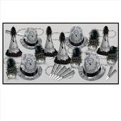 Silver Midnight New Years Eve Party Kit For 50
