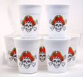 Skull And Crossbones Disposable Cups