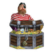 Treasure Chest Lifesized Standup