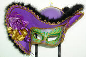 Women's Mardi Gras Pirate Mask