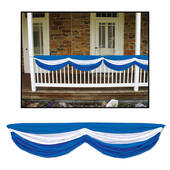 Blue And White Fabric Bunting