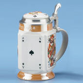 Card Player Stein