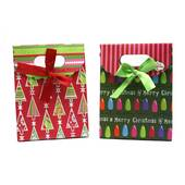 Small Folded Top Christmas Gift Bags